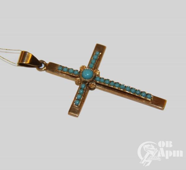 Крест-подвеска со смальтой