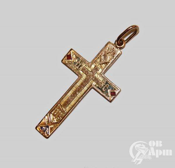 Крест с эмалью