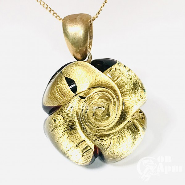 Кулон-подвеска «Цветок». Муранское стекло