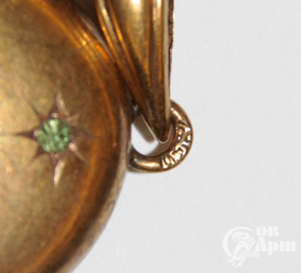 Медальон с демантоидом, рубином и сапфирами