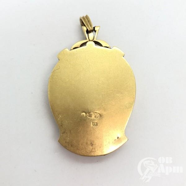 Медальон в стиле модерн с алмазами и сапфирами