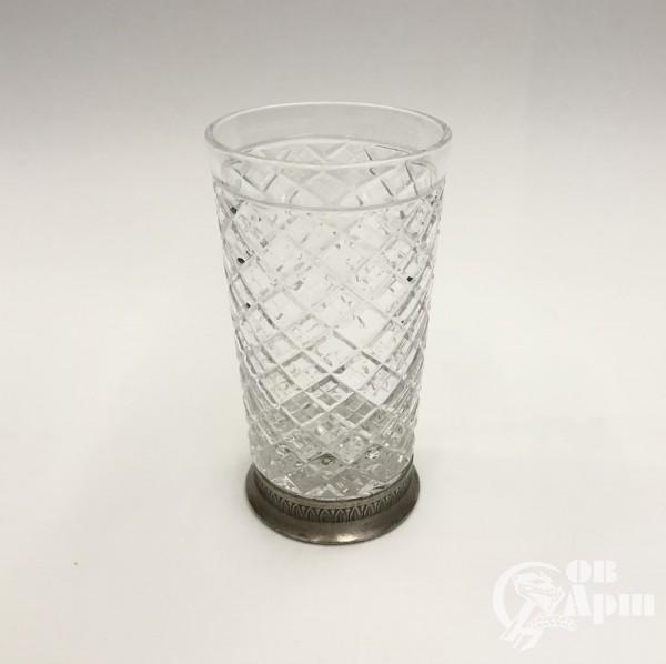Графин и 2 стакана, хрусталь в серебре