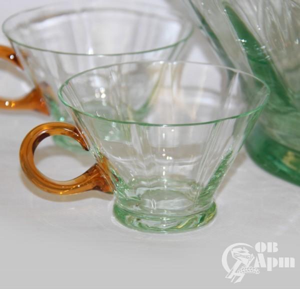 Набор: крюшонница и 5 чашек