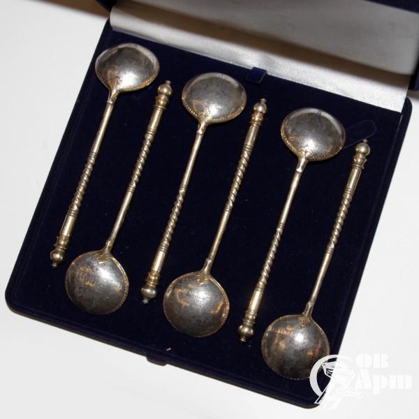 Набор ложек чайных с видами московских соборов