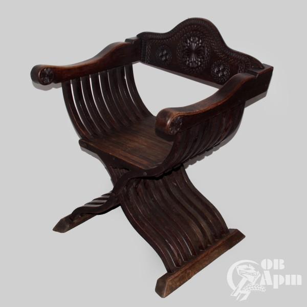 Парные кресла курульные складные