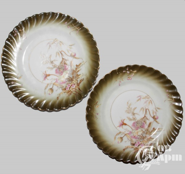 """Парные тарелки """"Цветы"""""""