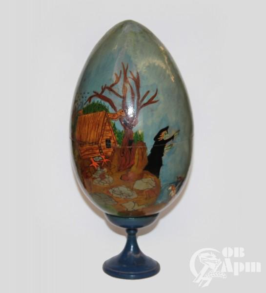 Пасхальные яйца деревянные со сказочным сюжетом (3 шт)