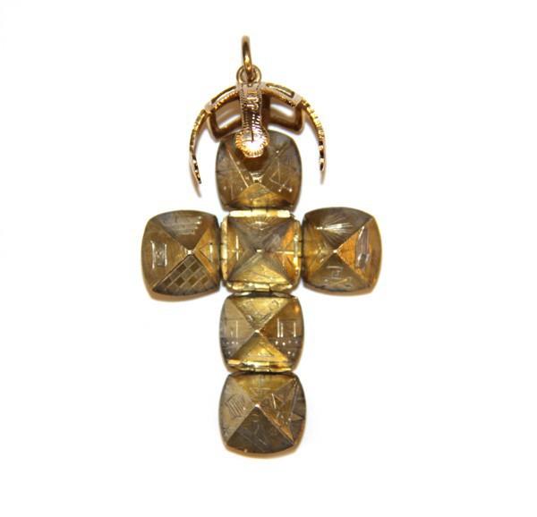 Подвеска шар (крест) с масонской символикой