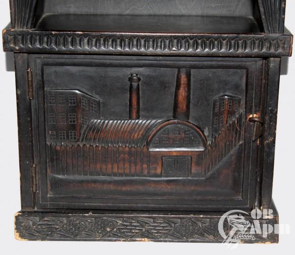Настенный шкаф с изображением фабрики