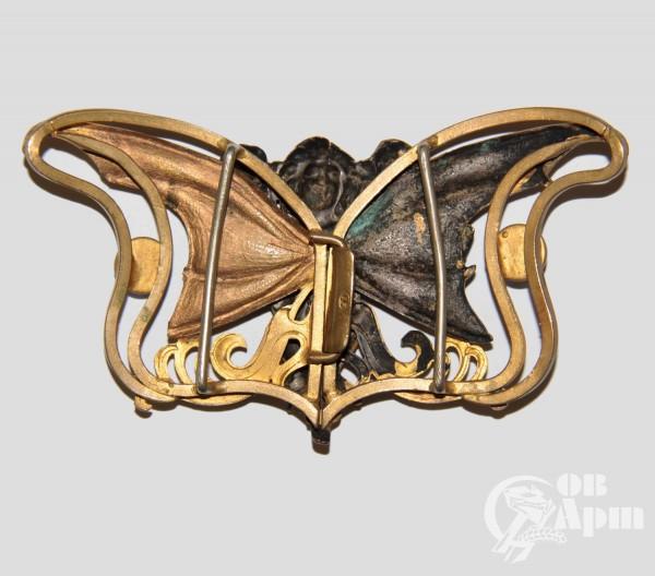 Пряжка в стиле модерн с изображением нимфы