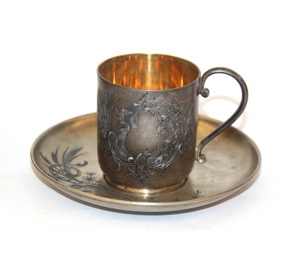 Серебрянная кофейная пара
