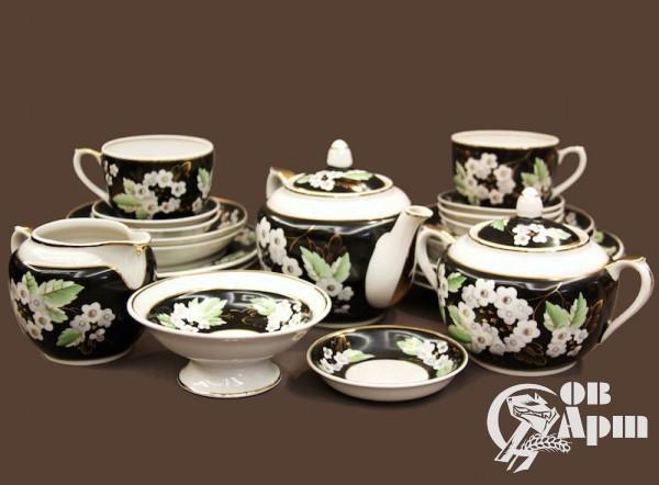 """Сервиз чайный """"Белые цветы"""""""