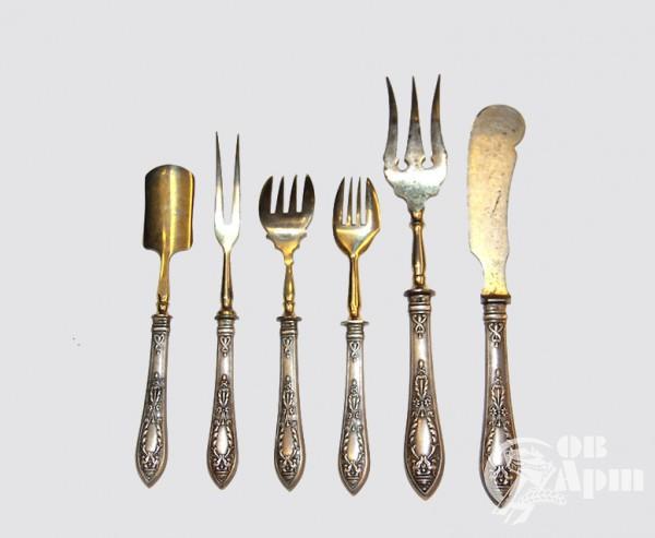 Шесть предметов сервировочных для рыбных и мясных блюд (Братья Грачевы)
