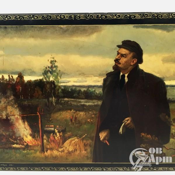 """Шкатулка """"Ленин в Разливе"""""""