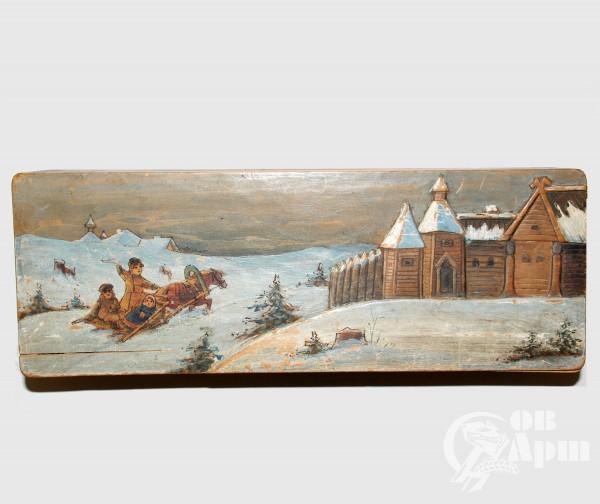 Шкатулка «Зимние гуляния на санях»