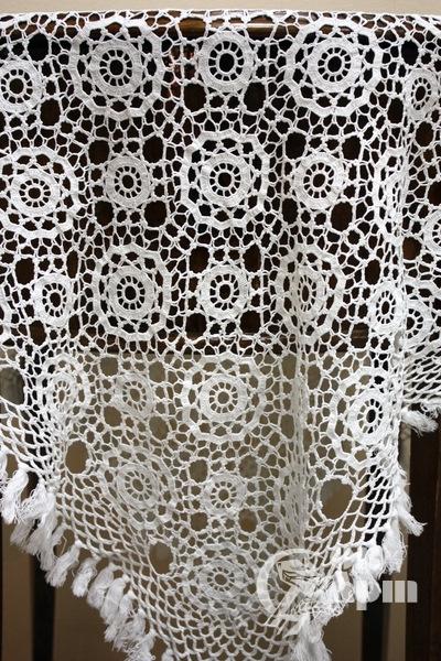 Скатерть плетеное кружево ручной работы