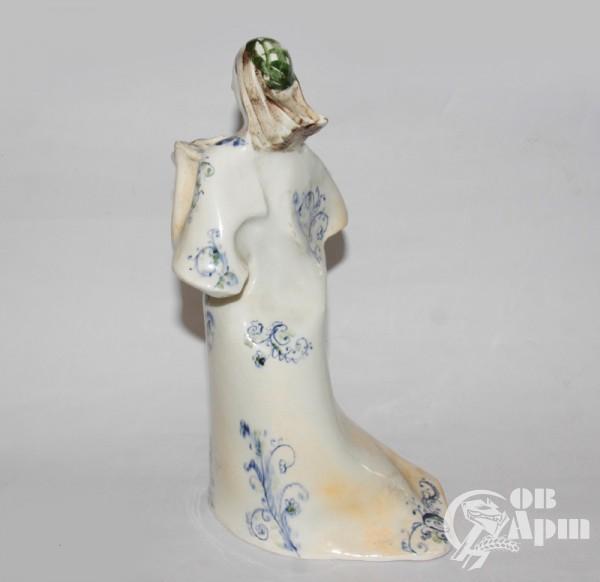 "Скульптура ""Дама с книгой"", фаянс, Артамонова"
