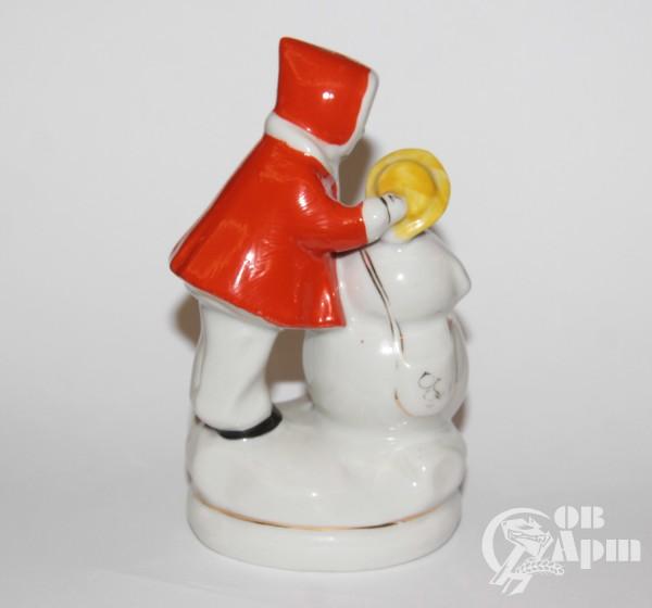 """Скульптура """"Девочка со снеговиком"""""""