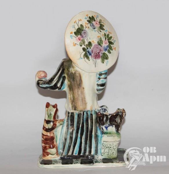 """Скульптура """"Дрессировщик #2"""", фаянс, Артамонова"""