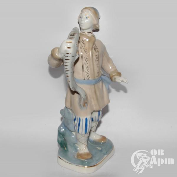 """Скульптура """"Емеля со щукой"""""""