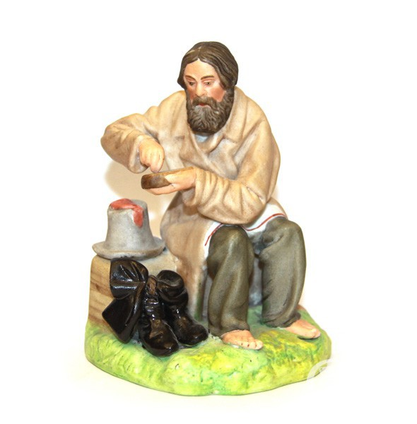 """Скульптура """"Мужик с краюхой хлеба"""""""