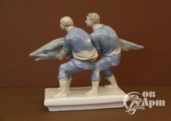 """Скульптура """"Счастливые рыбаки"""""""