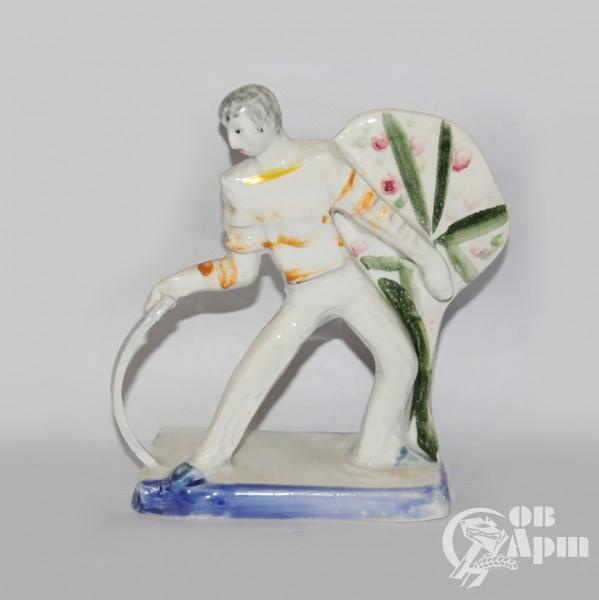 """Скульптура """"Выступление"""", фаянс, Артамонова"""