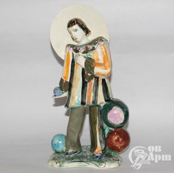 "Скульптура ""Жонглер #1"", фаянс, Артамонова"