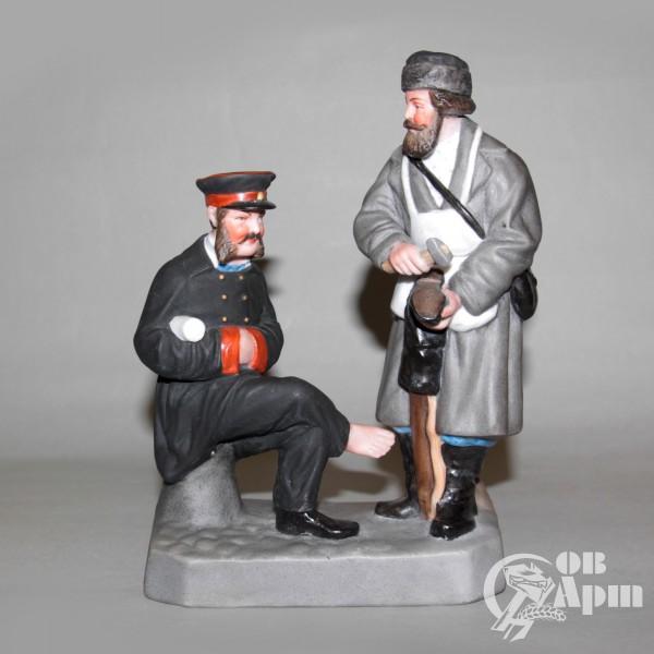 """Скульптурная композиция """"Холодный сапожник и чиновник"""""""
