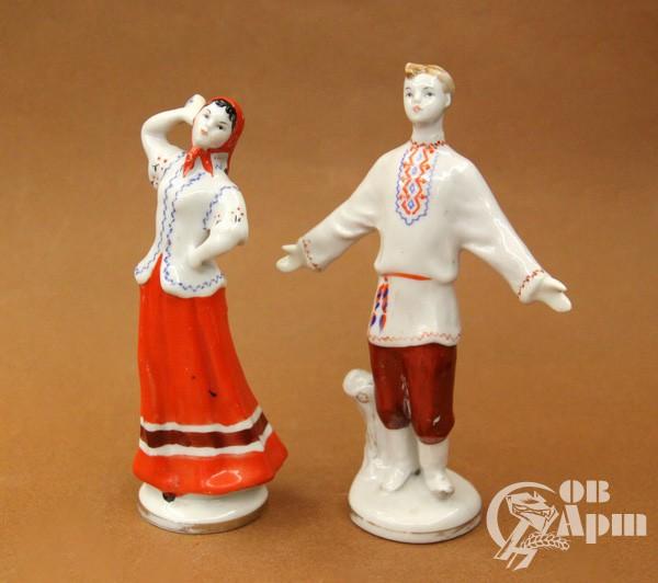 """Скульптуры парные """"Русский парень и русская девушка"""""""
