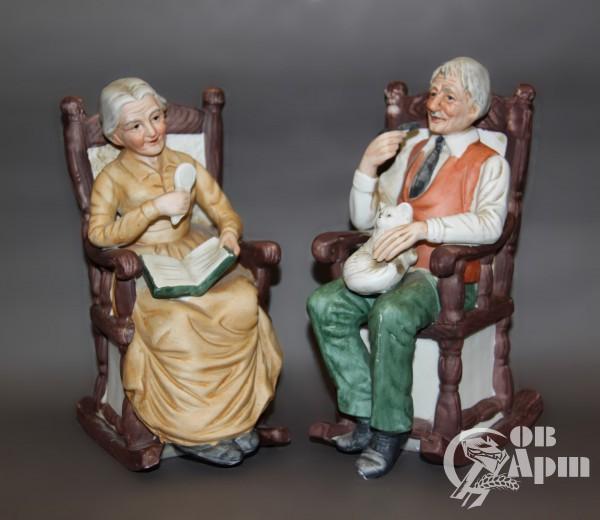 """Скульптуры парные """"Старик и старуха"""""""