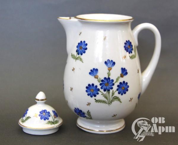 """Сливочник """"Голубые цветы"""""""