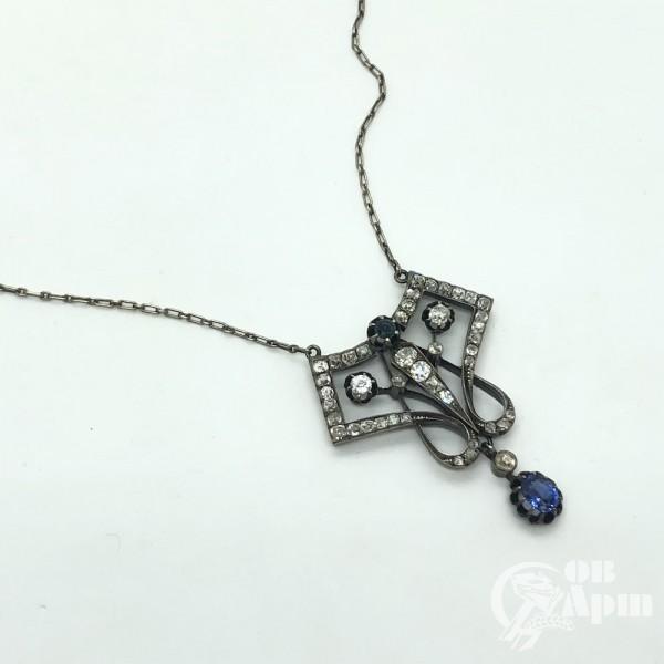 Сотуар с сапфирами и бриллиантами