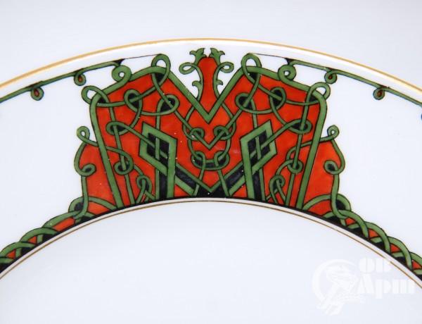 Тарелка по эскизу И. Билибина