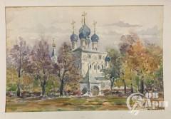 """Акварель """"Москва. """"Новодевичий монастырь"""""""