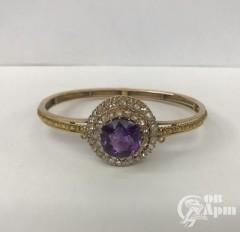 Браслет с аметистом и алмазами