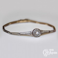 Браслет с бриллиантом и алмазами