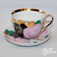 """Чайная пара большая """"Розы"""""""