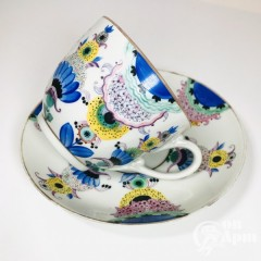 Чайная пара «Голубые цветы». ГФЗ
