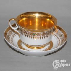 Чайная пара с золотым орнаментом
