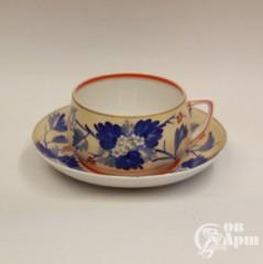 """Большая чайная пара """"Синие цветы"""""""