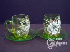 """Чайная пара """"Цветы"""" на две персоны"""