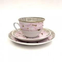 """Чайное трио """"Розовый лист"""""""