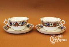 Чайные пары с изображениями гербов