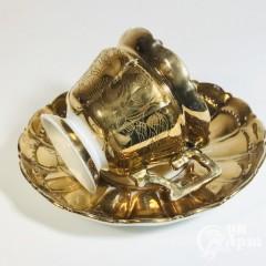 Чайные пары с золотым крытьем