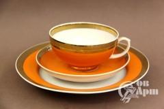 """Чайный комплект """"Оранжевый цвет"""""""