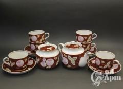 Чайный сервиз на шесть персон, 14 предметов (Вербилки)