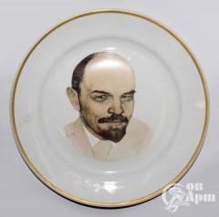 """Декоративная тарелка """"Ленин"""""""