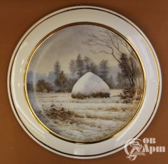 """Декоративная тарелка """"Первый снег"""""""