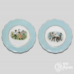 Две декоративных тарелки с детскими сюжетами